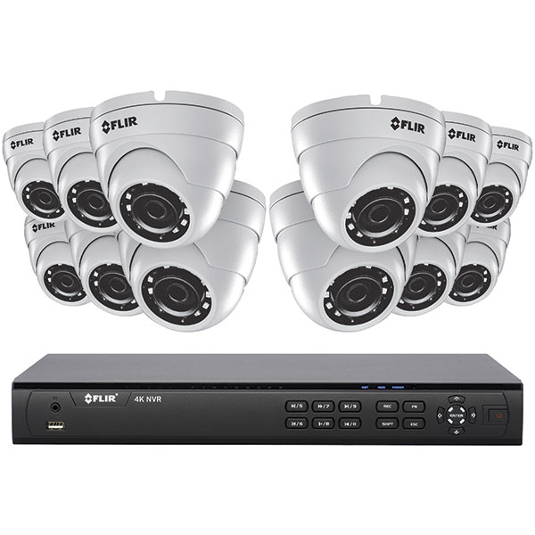 16CH 4K HD POE+ NVR BUNDLE, 12 X 4MP EB DOME