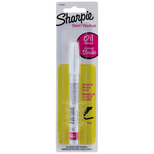SHARPIE PAINT FINE 1 CARDED WHITE