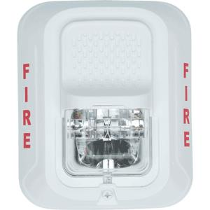 White Fire Protection Horn Strobe, 2-Wire, Wall Mnt