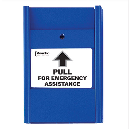 """BLUE PULL STATION """"PULL FOR EMERGENCY ASSISTANCE"""""""