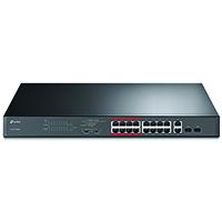 TP-Link 16-Port 10/100Mbps + 2-Port Gigabit Unmanaged PoE Switch