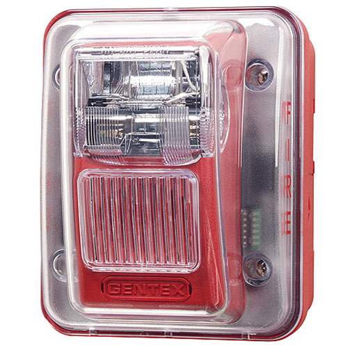 Weatherproof Horn/Strobe, Red