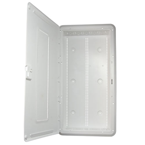 30IN PLASTIC ENCLOSURE NA WITH HINGED DOOR & TRIM