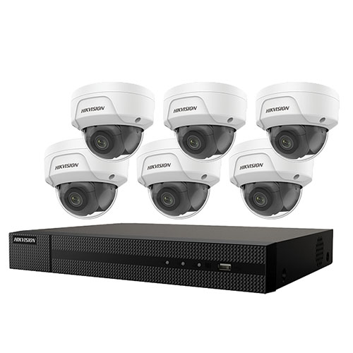 KIT,SIX 4MP OUTDOOR DOME CAMERAS WITH 2.8MM LENS