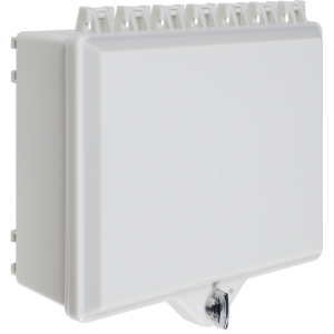 Safety Technology Opaque White NEMA 4x Cabinet With Thumb Lock