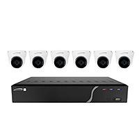 8ch H.265 NVR W/6 Od IR 5mp IP Cams, 2.8mm Fl, 2tb K