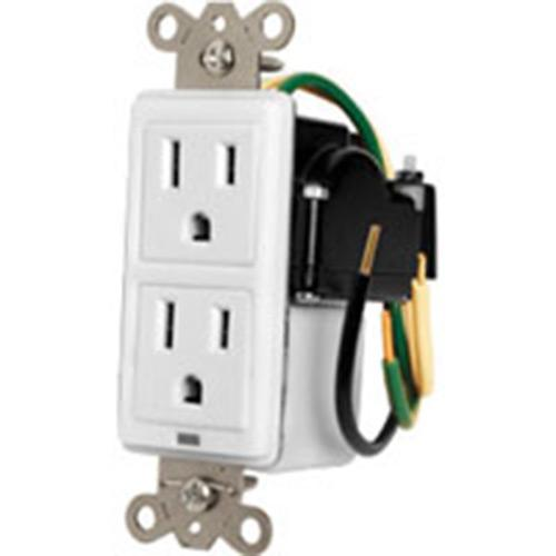 2 SURGE PROTECTED AC OUTLETS  SINGLE GANG AC DUPLEX W/PROTECTION