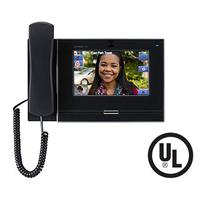 """Aiphone IX-MV7-HB 7"""" Touchscreen IP Video Master Station, SIP Compatible, Privacy Handset, Black"""