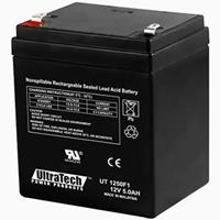 UltraTech IM-1250F1 12 Volt 5.0 Ah Sealed Lead Acid Battery - F1 Terminal (Replaces IM-1240)