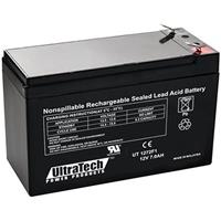 UltraTech IM-1272F1 12 Volt 7.2 Ah Sealed Lead Acid Battery - F1 Terminal (Replaces IM-1270)