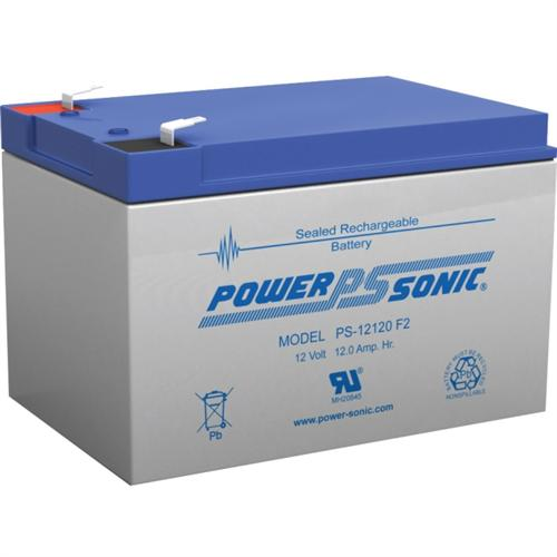 Power Sonic PS-12120F2 12V 12Ah Rechargeable Sealed Lead Acid Battery