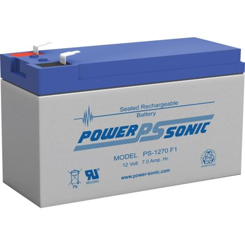 Power Sonic PS-1270F1 12V 7 Ah Rechargeable Sealed Lead Acid Battery with F1 Terminal